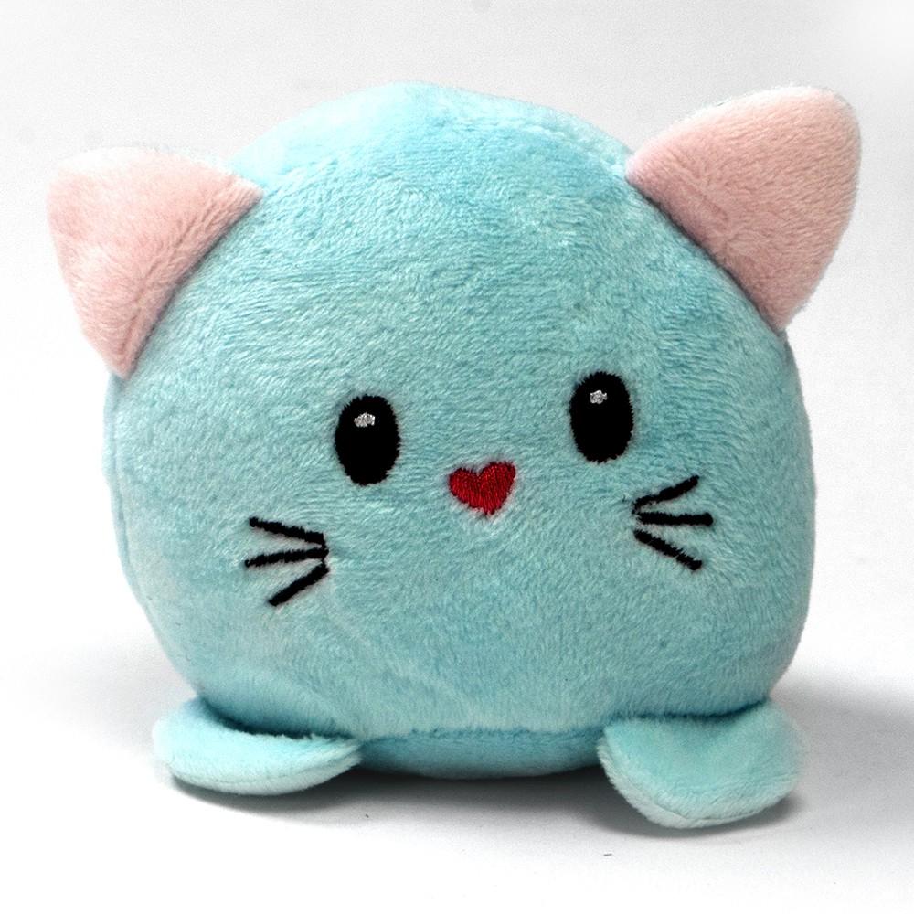 Peluche gatito cariñoso con sonido azul 1 u