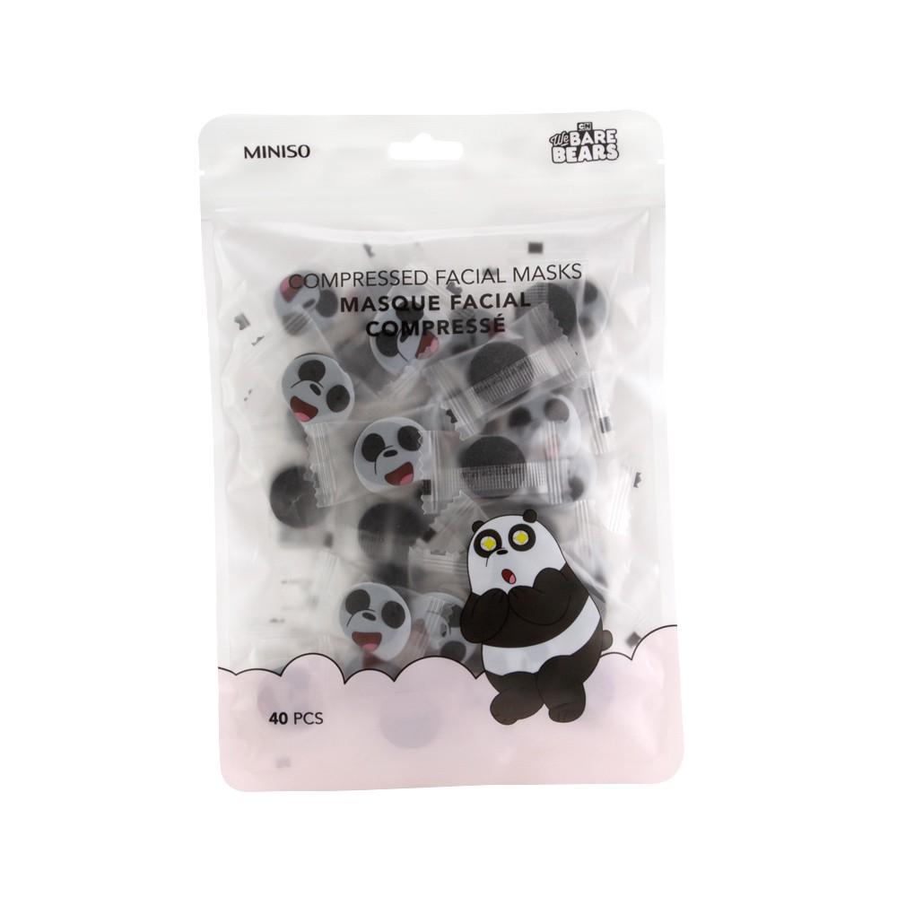Mascarilla comprimida panda Escandalosos 40 u