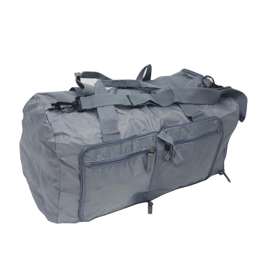 Bolsa de viaje plegable gris
