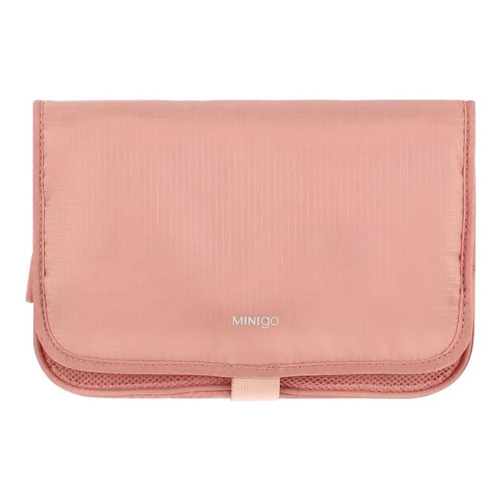 Bolsa de viaje dos pliegues rosa