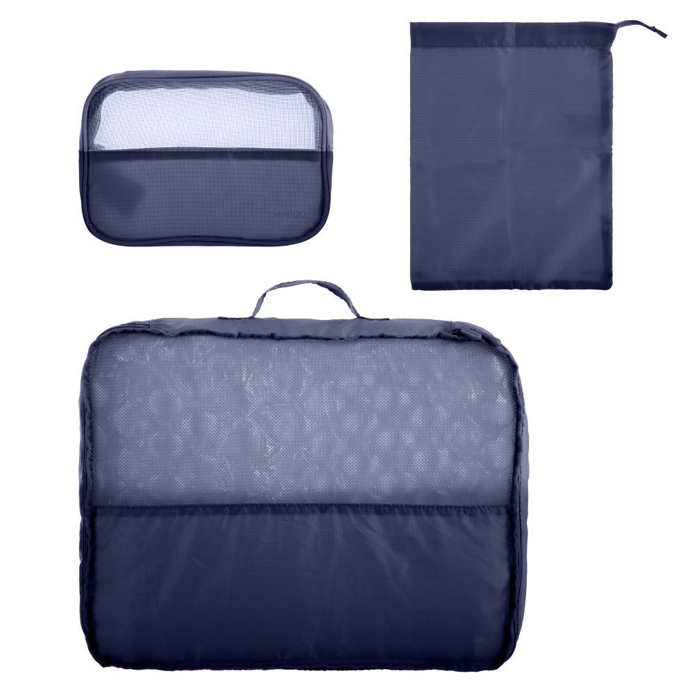 Organizador de viaje para ropa azul marino