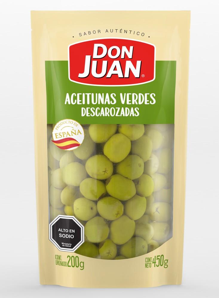Aceitunas verdes descarozadas