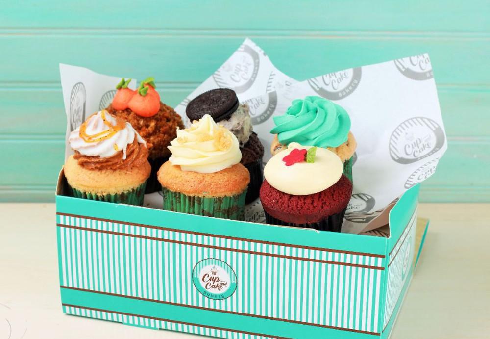 Box Variado de 12 Cupcakes (Pagas 9) Box (12 Unidades)
