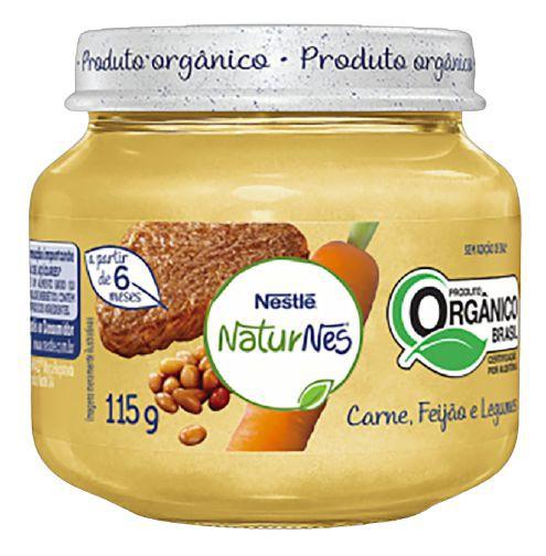 Papinha orgânica NaturNes carne, feijão e legumes
