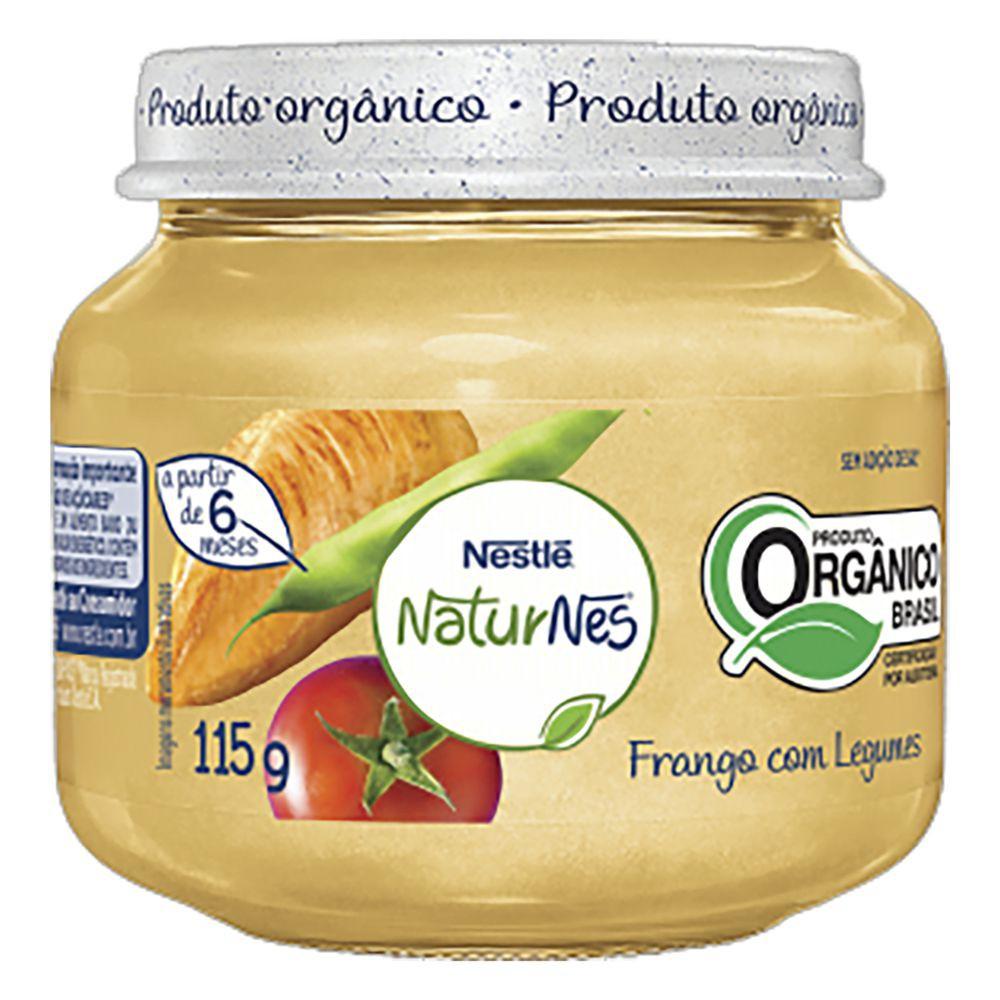 Papinha orgânica NaturNes frango com legumes