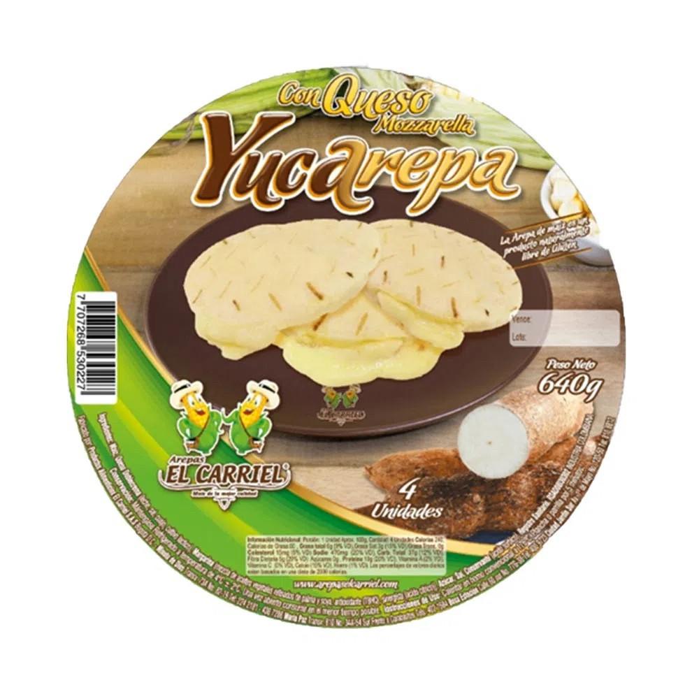 Yucarepa con queso mozzarella