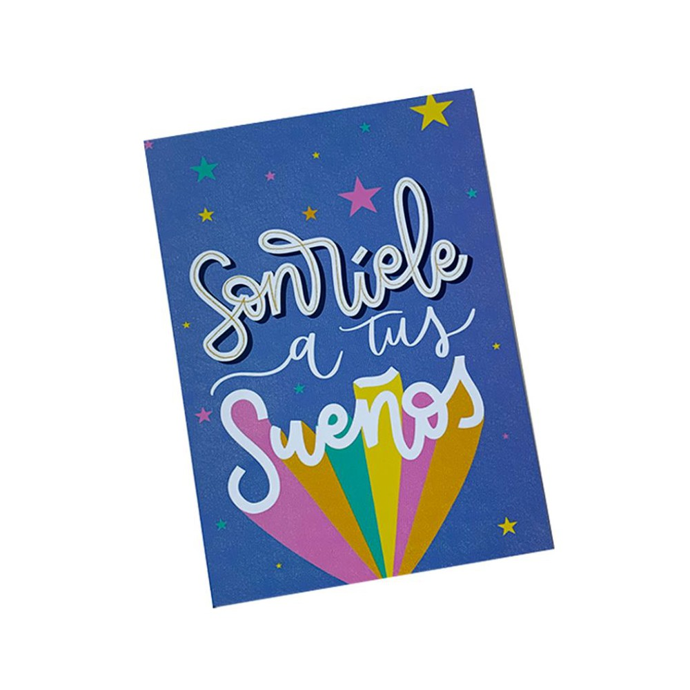 "Tarjeta ""sonríele a tus sueños"" 130x180 mm"