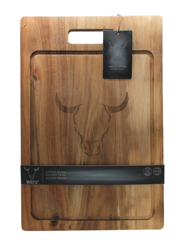 Tabla madera acacia 45 x 30 x 1.8 cm