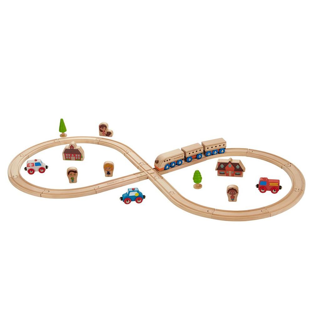 """Juguete madera Kit de tren """"vía en 8"""" Caja"""