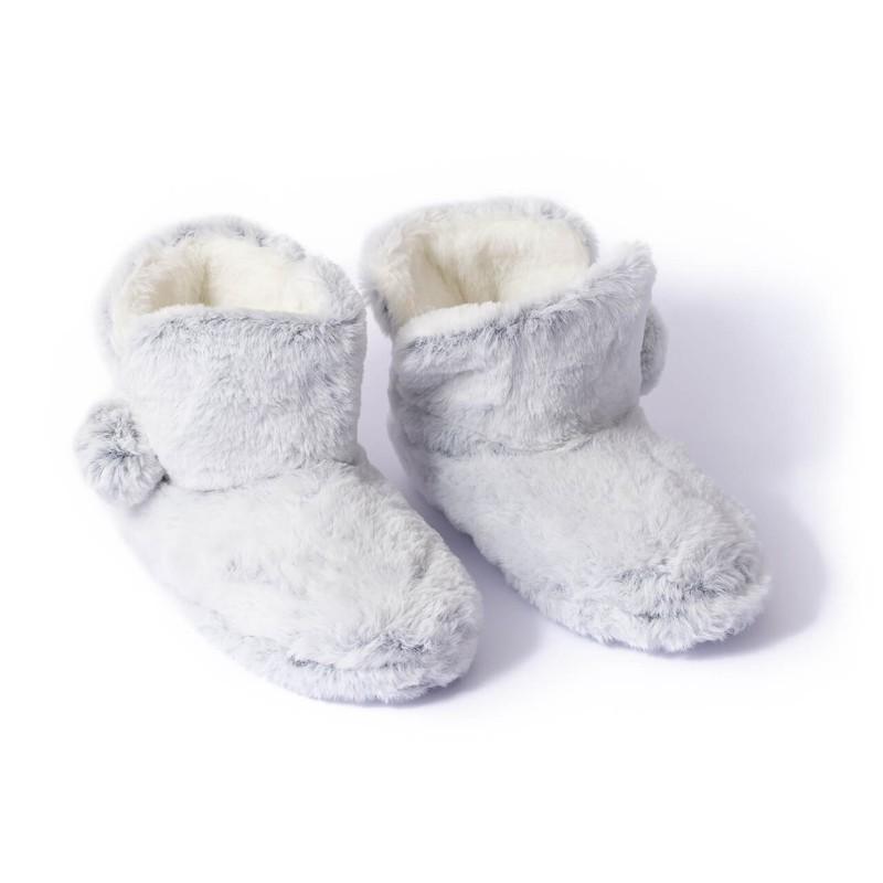 Pantufla bota gris 15x26