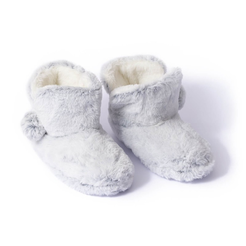 Pantufla bota gris 15x28