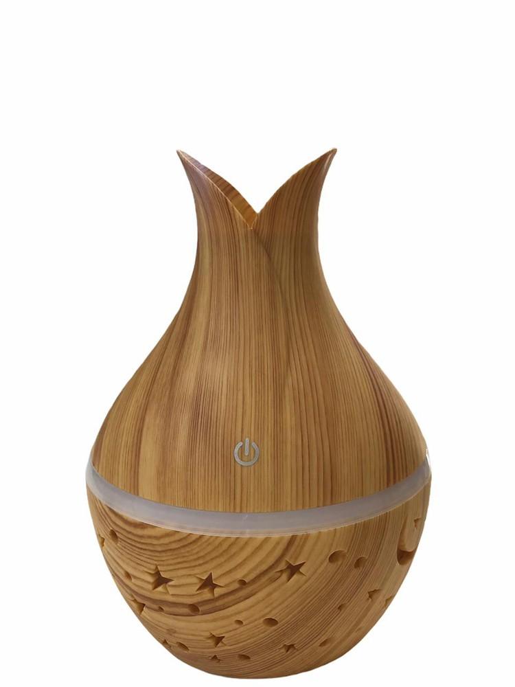 Humidificador aromático usb led lampara mágica café claro 1