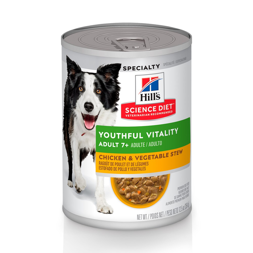 Hills Science Diet Adult 7+ Youthful Vitality Perro Lata