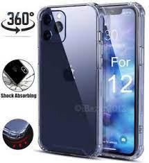 Carcasa iphone 12, 12 pro, 12 pro max transparente y anti golpe