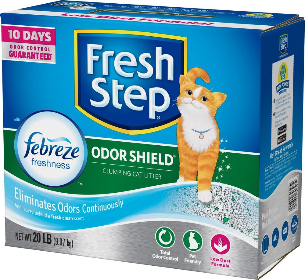 Arena para gato aglutinante control de olores con Febreze 9.07 kg