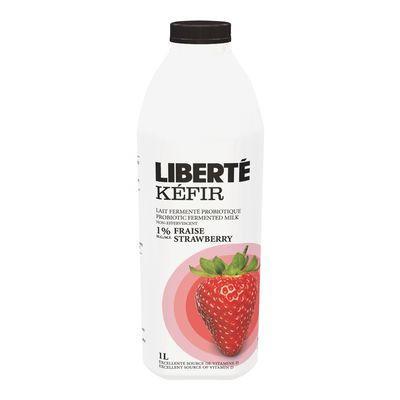 1% strawberry flavoured kefir