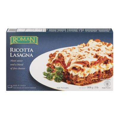 Frozen meat and 5 cheese flavoured lasagna