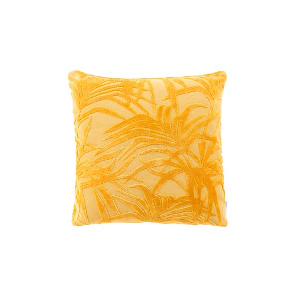 Cojín miami palm tree amarillo