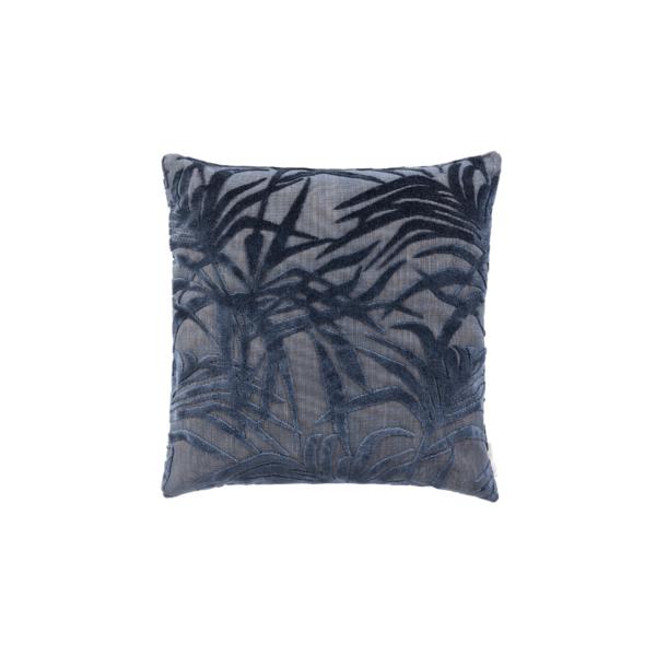 Cojín miami palm tree azul