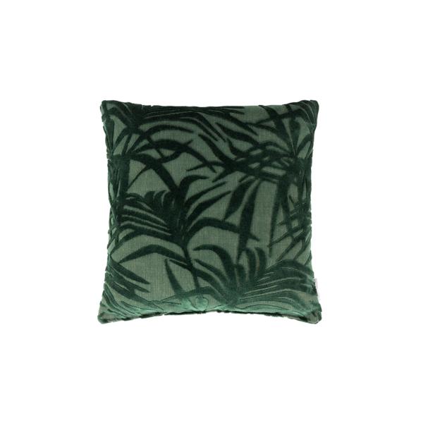 Cojín miami palm tree verde