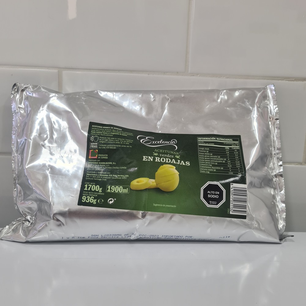 Aceituna Sevillana Entera sin Cuesco 1 kg