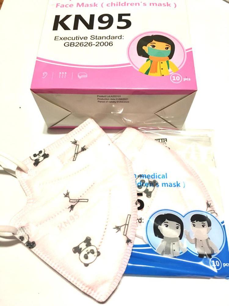 Mascarillas KN95 niños panda 10 u