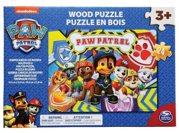 Paw patrol puzzle madera 24 piezas
