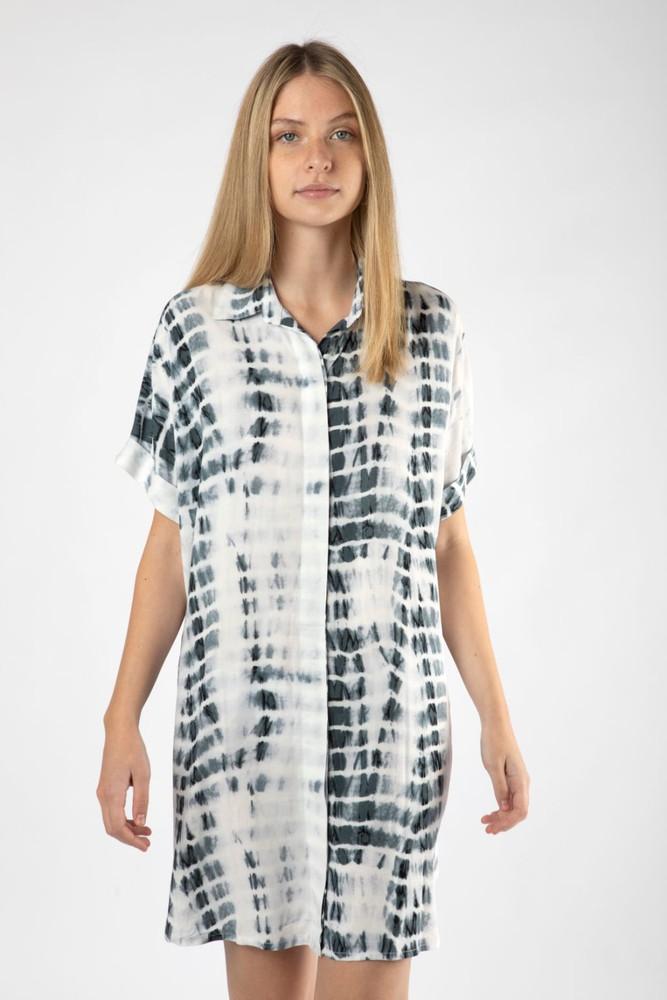 Camisa clara tie dye gris S