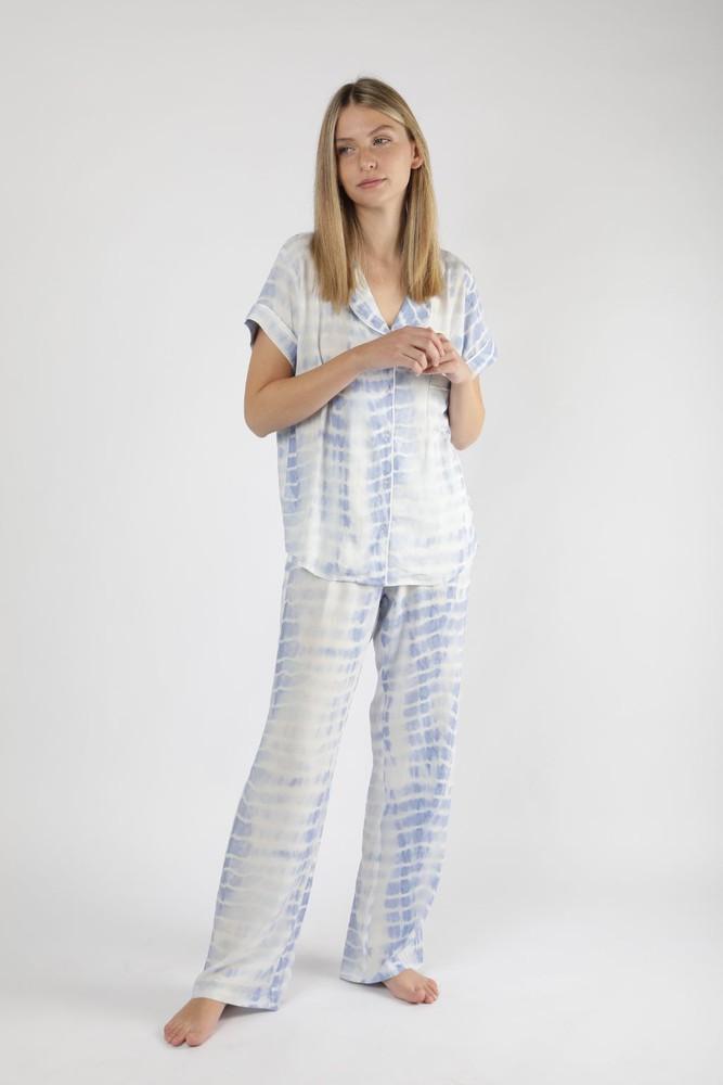 Pijama elvira tie dye celeste L