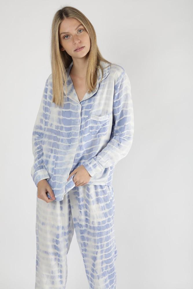 Pijama alessandra tie dye celeste L