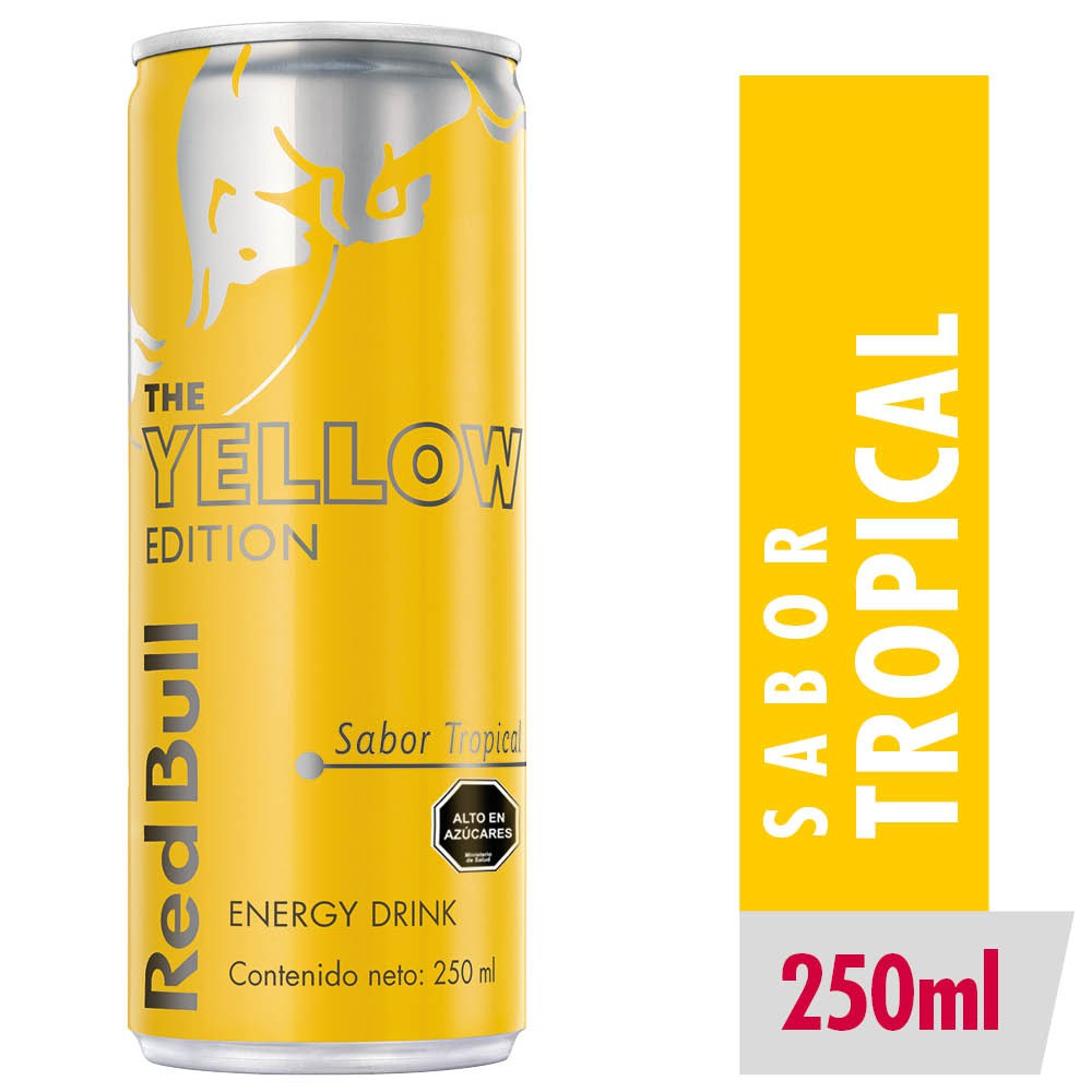 Energy drink yellow edition tropical