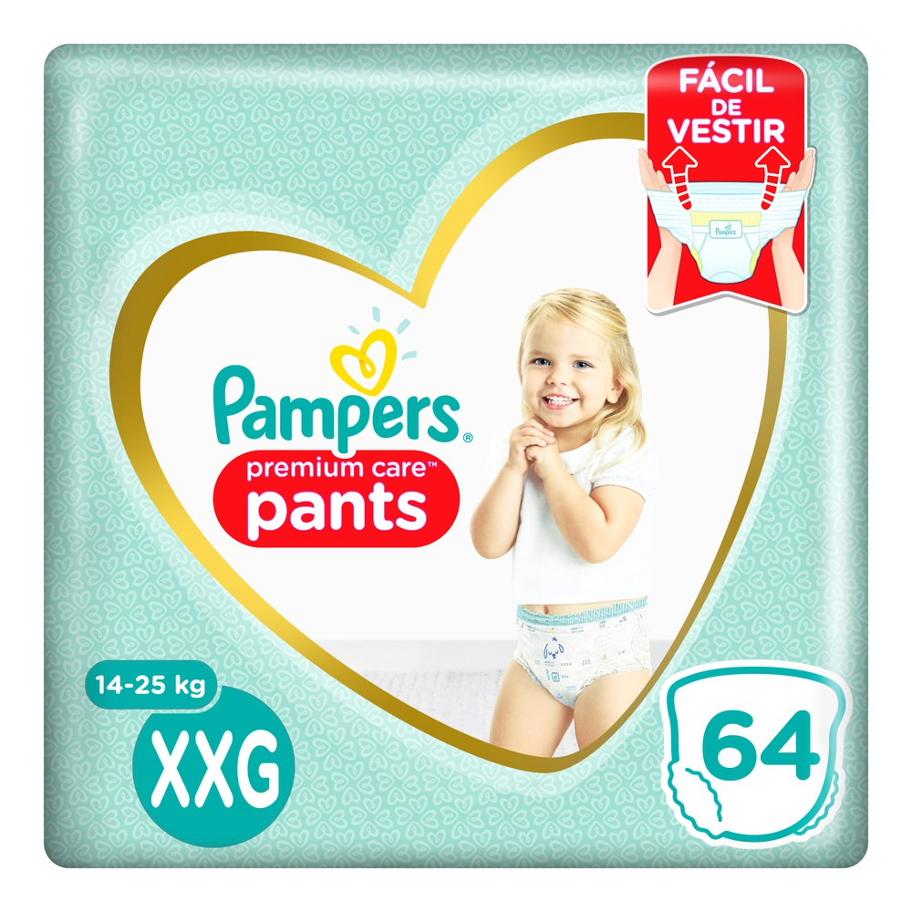 Pañales premium care pants talla XXG