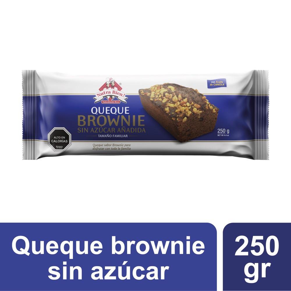 Queque brownie sin azúcar añadida sabor chocolate