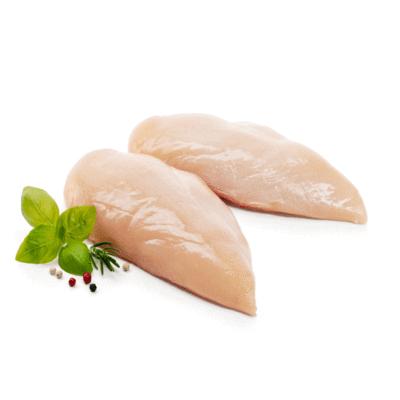 Filetes de pechuga de pollo Bolsa de 800 g (aprox).