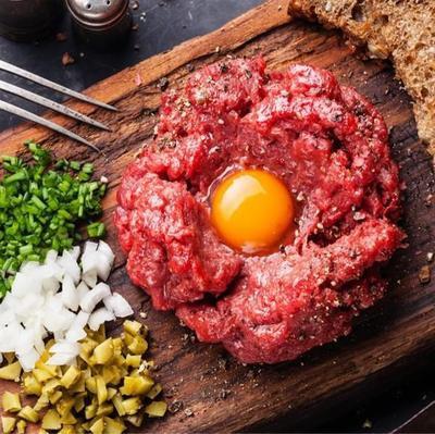 Carne molida extra tártaro 500 g Bandeja de 500 g (aprox).