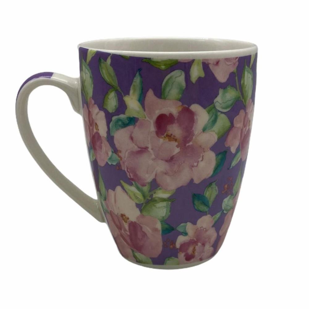 Tazón flores lila