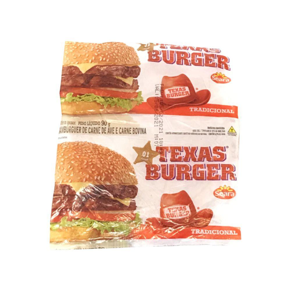 Hambúrguer de carne bovina e carne de ave Texas Burguer