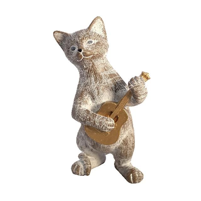 Gato musico 21.5 x 11.7 x 10.7 cms