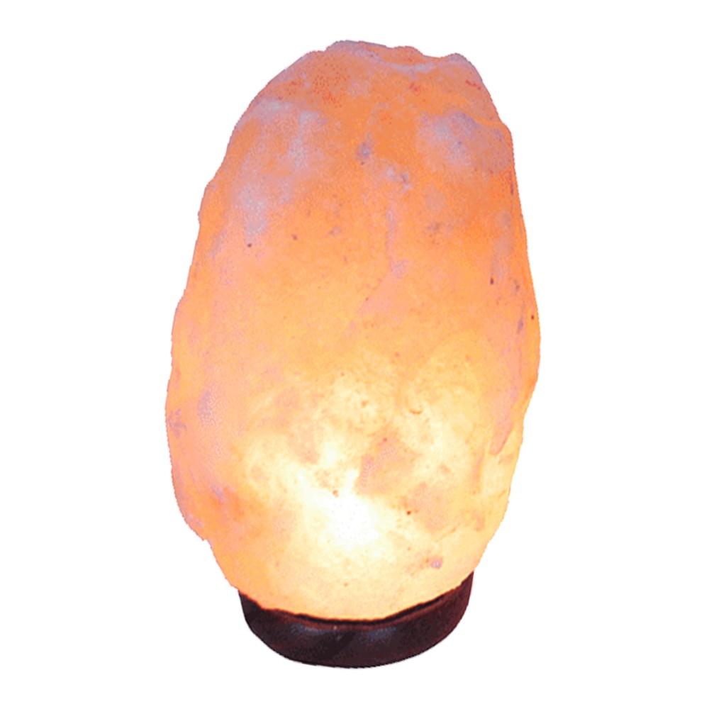 Lámpara de sal rosada