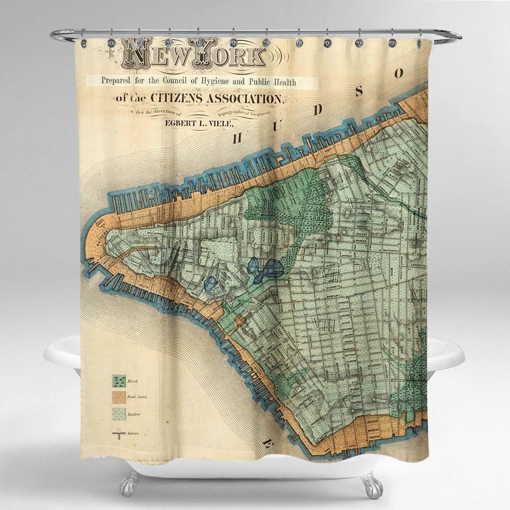 Cortina de baño new york de 1865