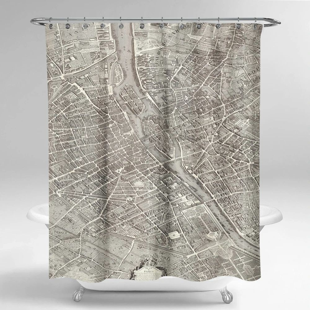 Cortina de baño paris de 1739