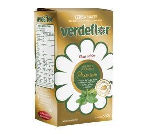 Yerba mate verdeflor hierbas serranas premiun Stock 4 unidades Bolsa 500 gr