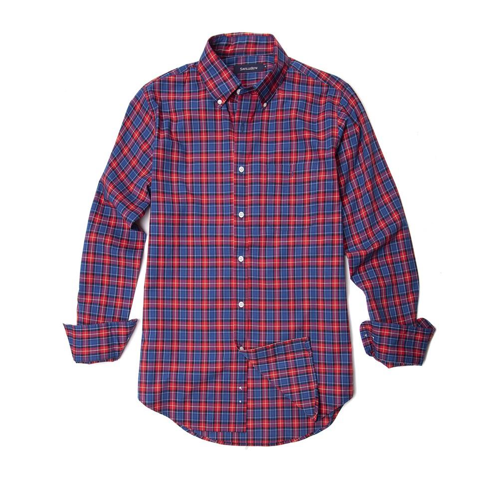 Camisa sport button down weekend a cuadros Talla: L
