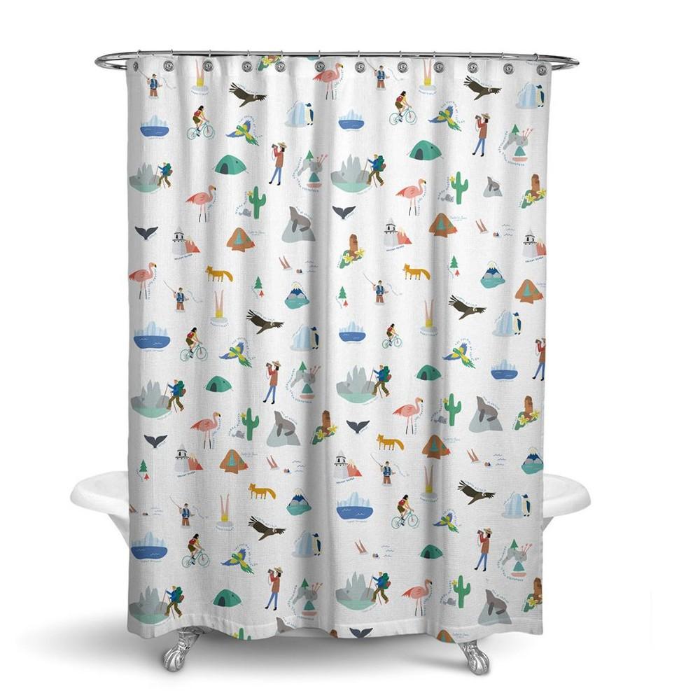 Productos cortina de baño parques nacionales de chile