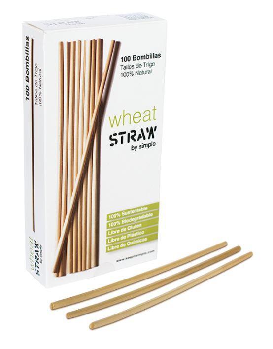 Bombillas biodegradables de trigo Caja 100 un