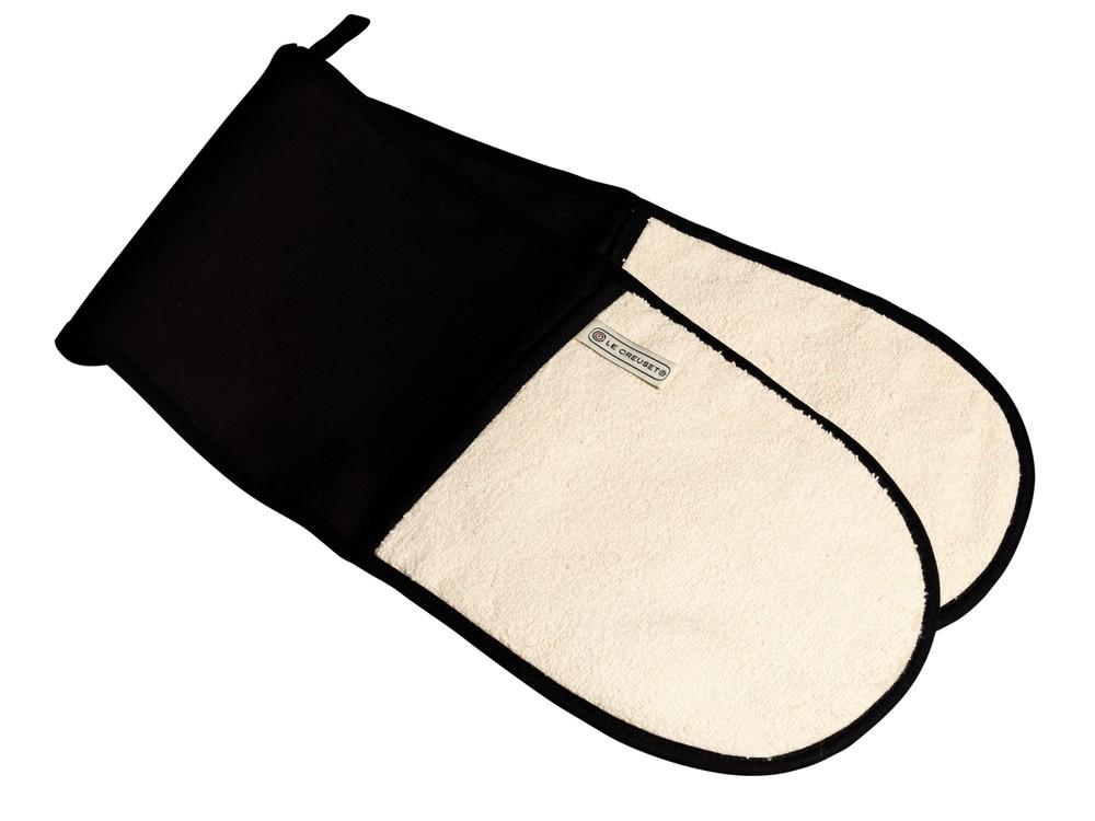 Guante doble horno negro 88cmx19cmx1cm