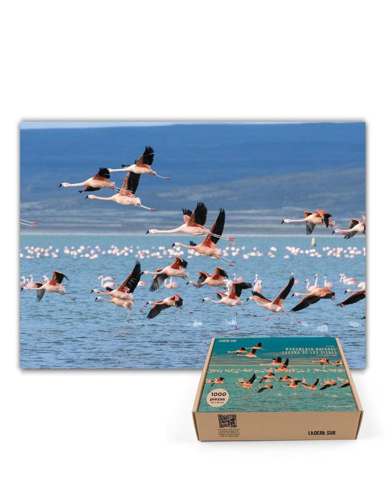 Puzzle flamencos en laguna de los cisnes - 1.000 piezas