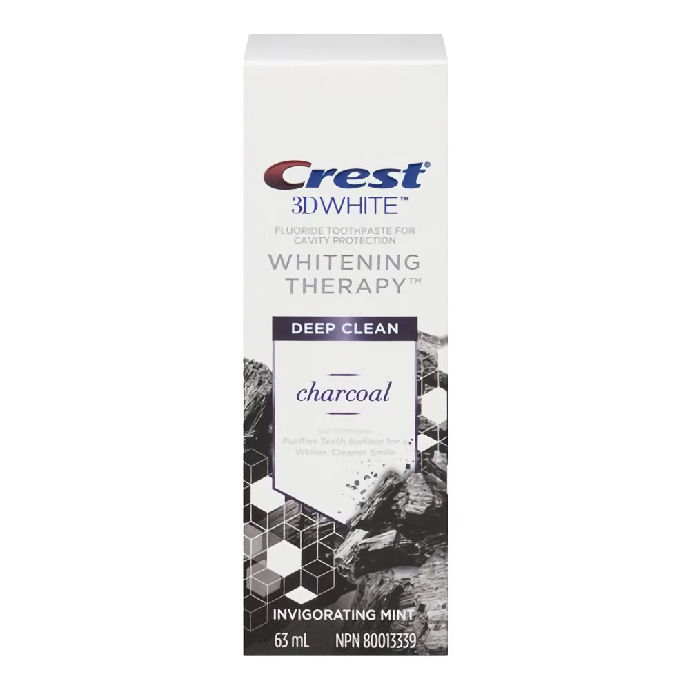 3D white charcoal toothpaste