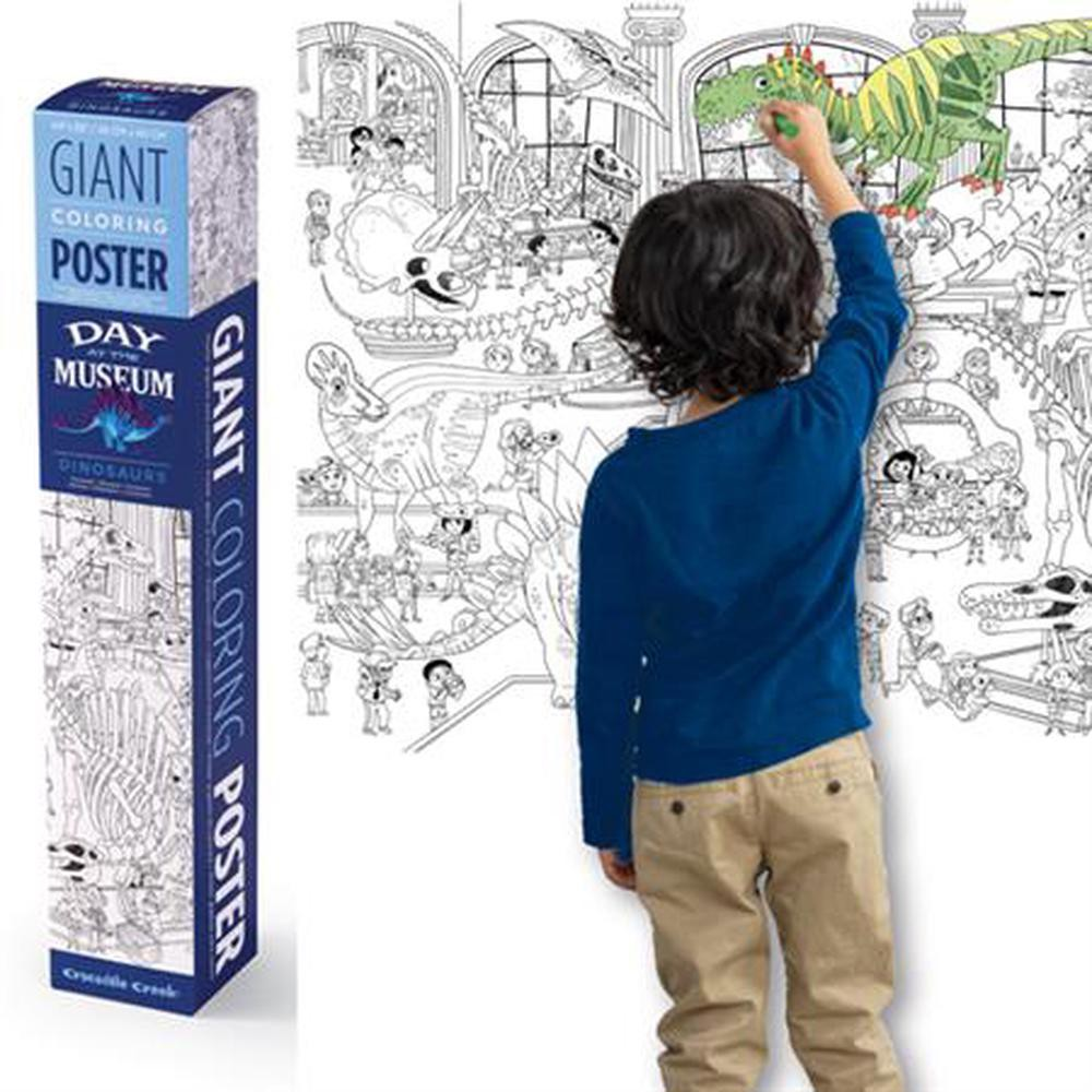 Giant coloring poster - dinosaurs