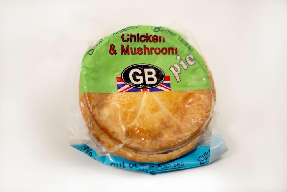Chicken and mushroom pie